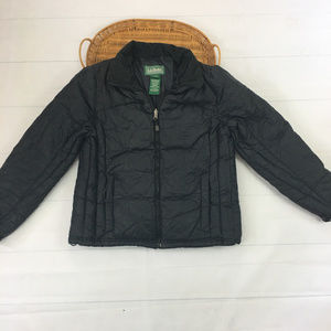LL Bean Women sz M Goose Down Puffer Winter Jacket